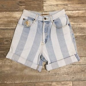 Vintage 90's Striped High Waisted Shorts